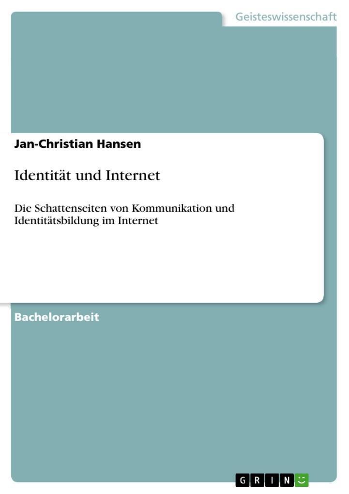 Identität und Internet als eBook pdf