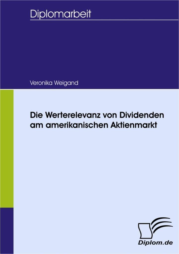 Die Werterelevanz von Dividenden am amerikanischen Aktienmarkt.pdf