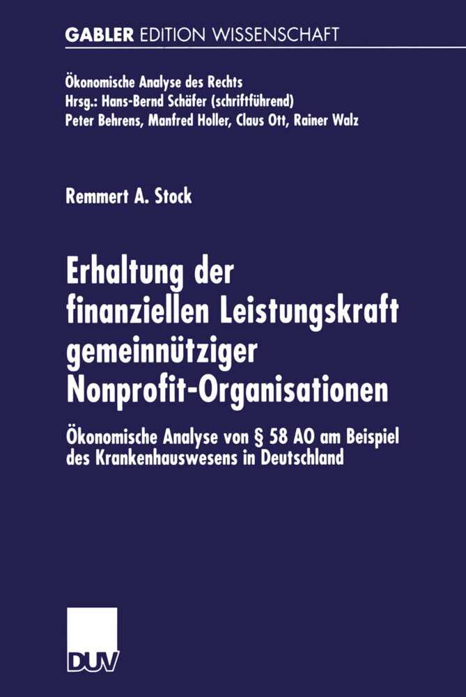 Erhaltung der finanziellen Leistungskraft gemeinnütziger Nonprofit-Organisationen als Buch (kartoniert)