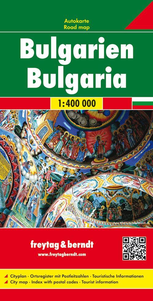 Bulgarien 1 : 400 000. Autokarte als Blätter und Karten