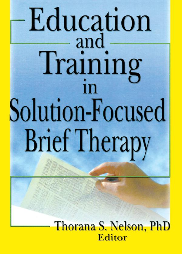Education and Training in Solution-Focused Brief Therapy als eBook epub