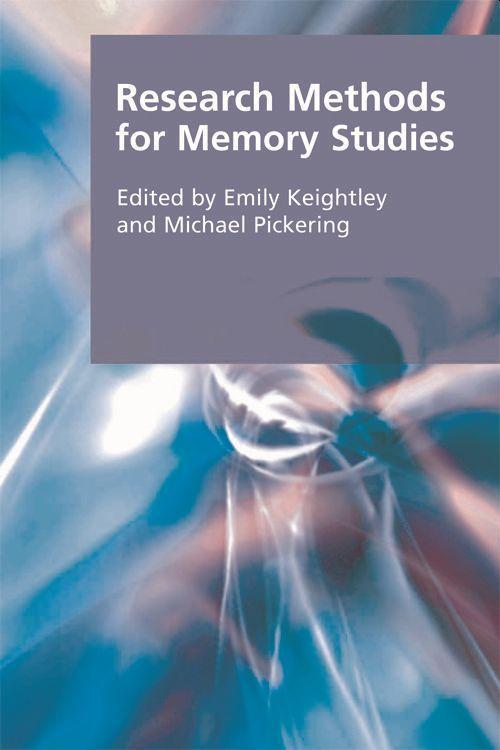 Research Methods for Memory Studies als Buch (gebunden)