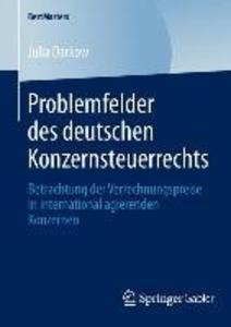 Problemfelder des deutschen Konzernsteuerrechts als eBook pdf
