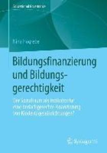 Bildungsfinanzierung und Bildungsgerechtigkeit als eBook pdf