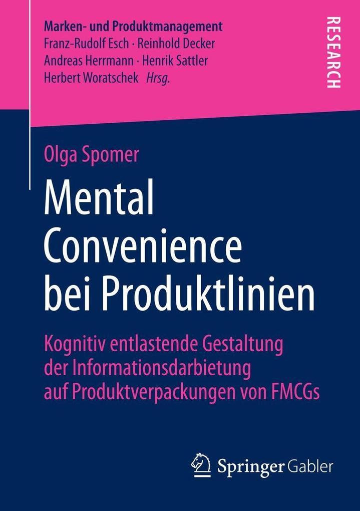 Mental Convenience bei Produktlinien als eBook pdf