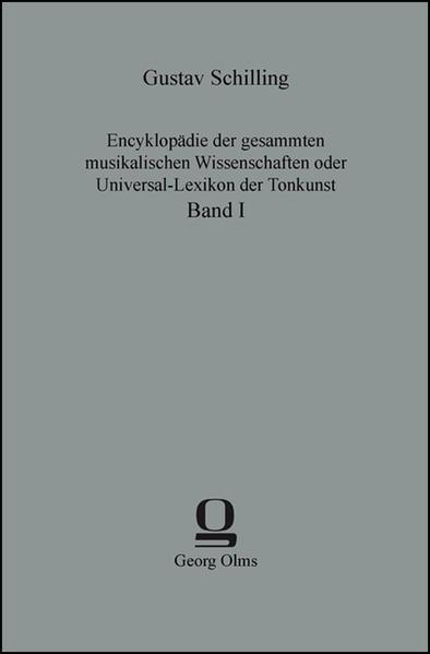 Encyklopädie der gesammten musikalischen Wissenschaften oder Universal-Lexikon der Tonkunst als Buch (gebunden)