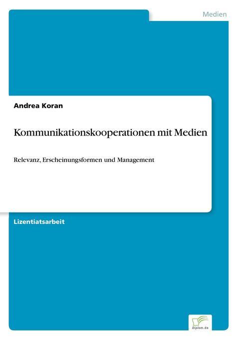 Kommunikationskooperationen mit Medien als Buch (kartoniert)