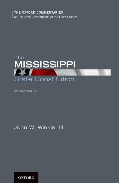 The Mississippi State Constitution als Buch (gebunden)