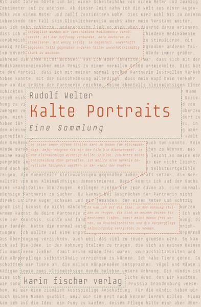 Kalte Portraits als Buch (kartoniert)