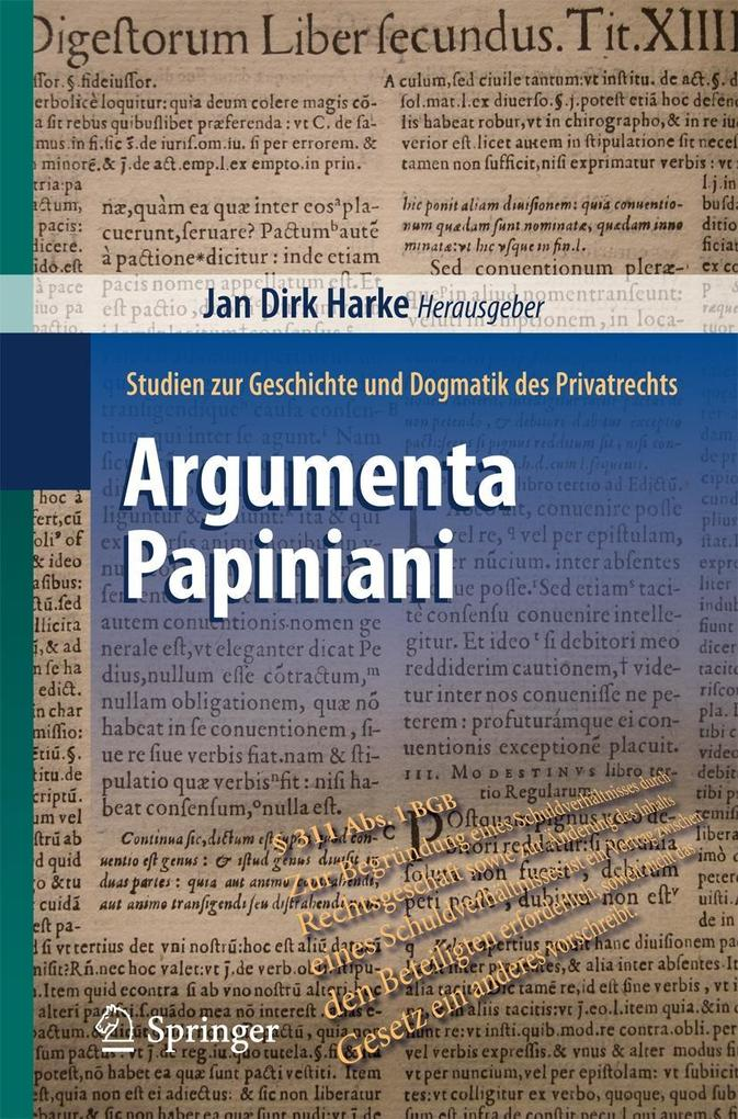 Argumenta Papiniani als eBook pdf