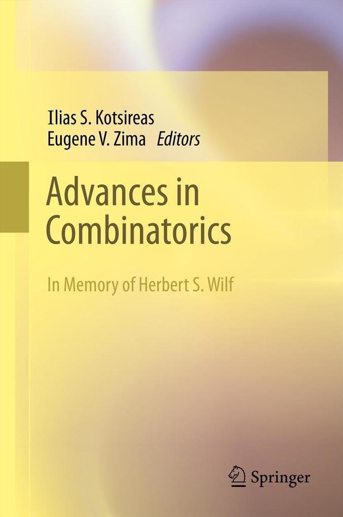 Advances in Combinatorics als eBook pdf