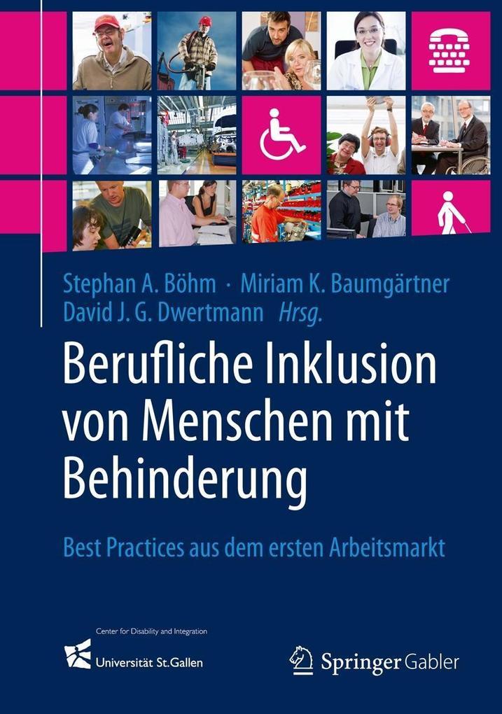 Berufliche Inklusion von Menschen mit Behinderung als eBook pdf