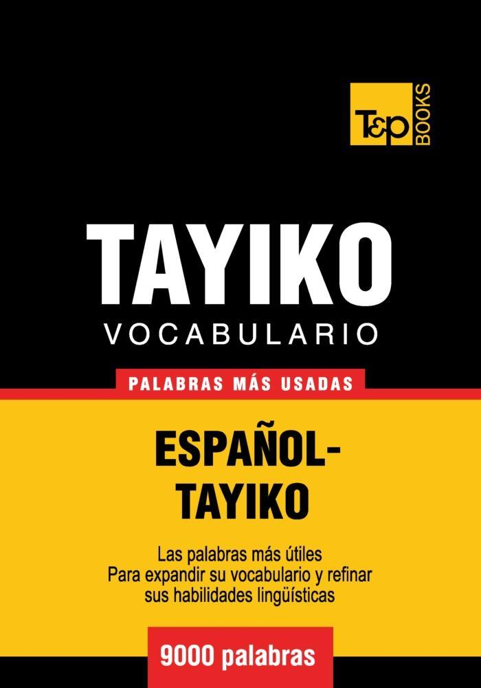 Vocabulario Español-Tayiko - 9000 palabras más usadas als eBook epub