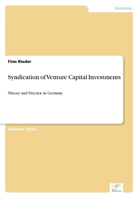 Syndication of Venture Capital Investments als Buch (kartoniert)