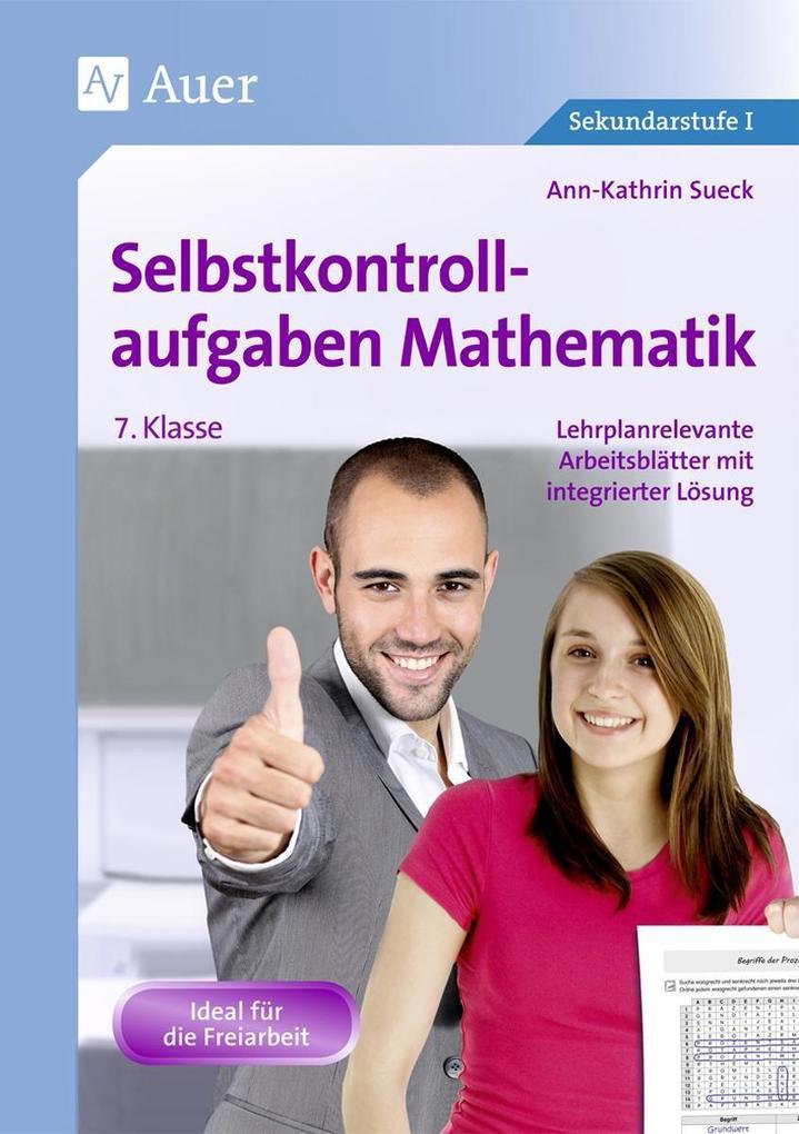 Selbstkontrollaufgaben Mathematik, 7. Klasse als Buch (geheftet)