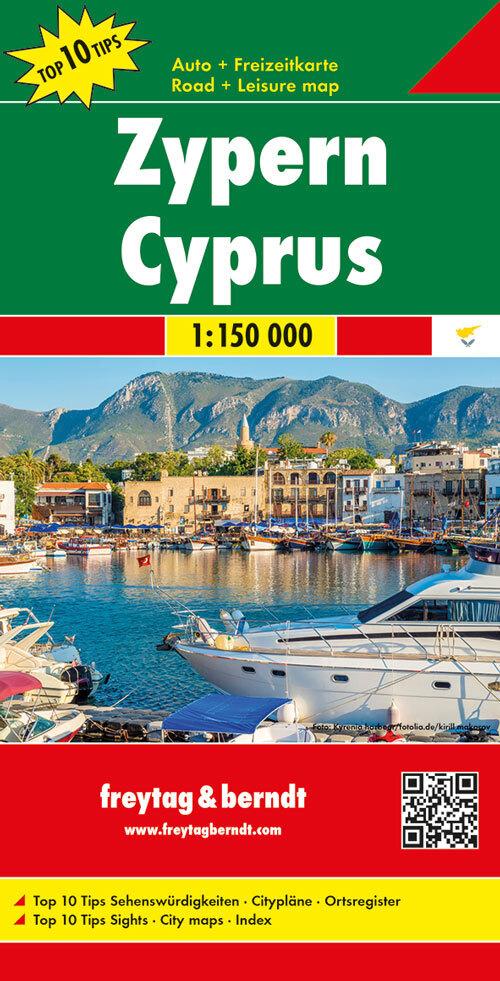 Zypern, Top 10 Tips, Autokarte 1:150.0000 als Blätter und Karten