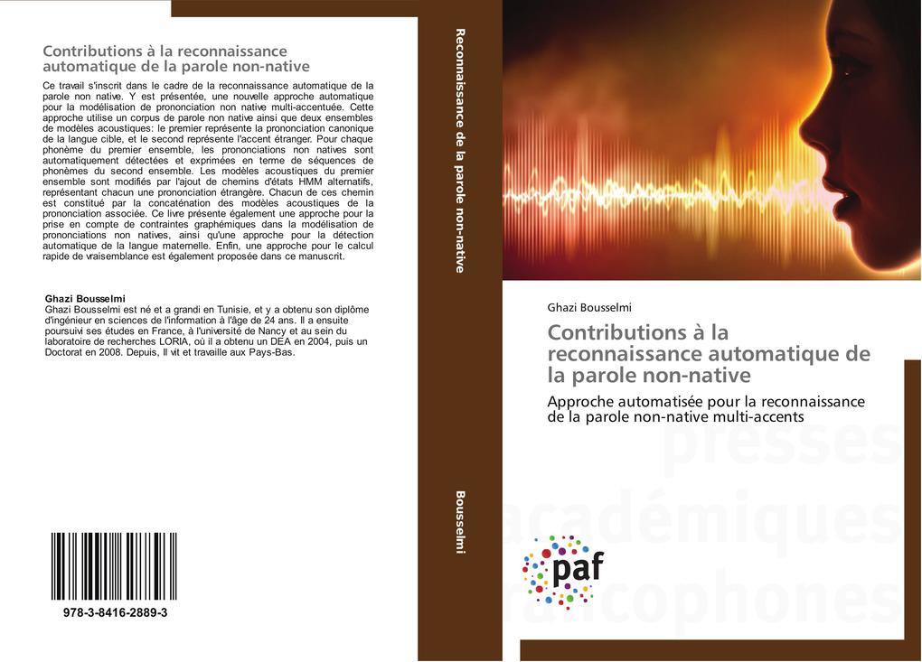 Contributions à la reconnaissance automatique de la parole non-native als Buch (kartoniert)