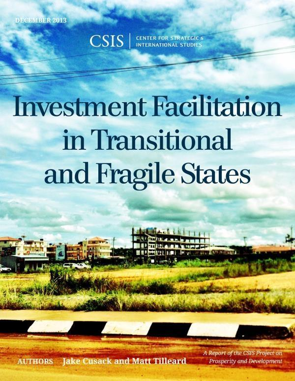 Investment Facilitation in Transitional and Fragile States als eBook epub