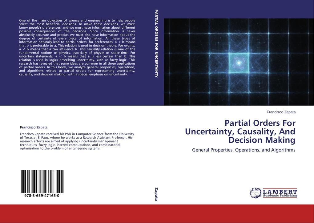 Partial Orders For Uncertainty, Causality, And Decision Making als Buch (kartoniert)