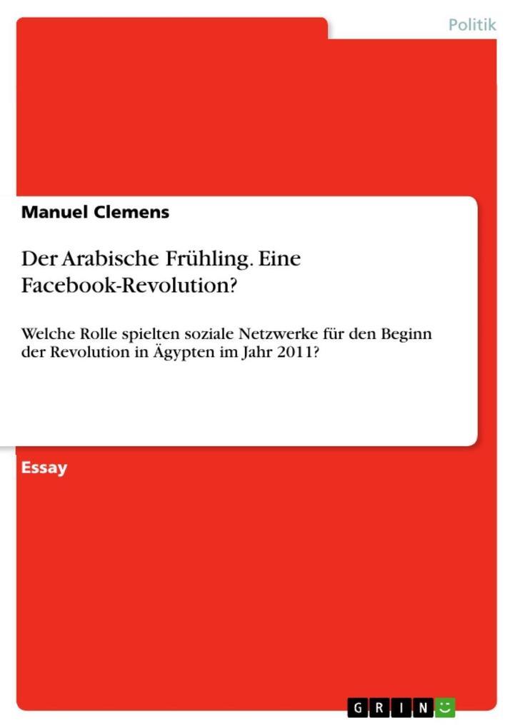 Der Arabische Frühling. Eine Facebook-Revolution? als eBook epub