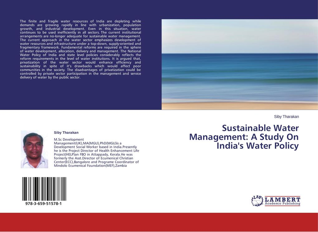 Sustainable Water Management: A Study On India's Water Policy als Buch (kartoniert)