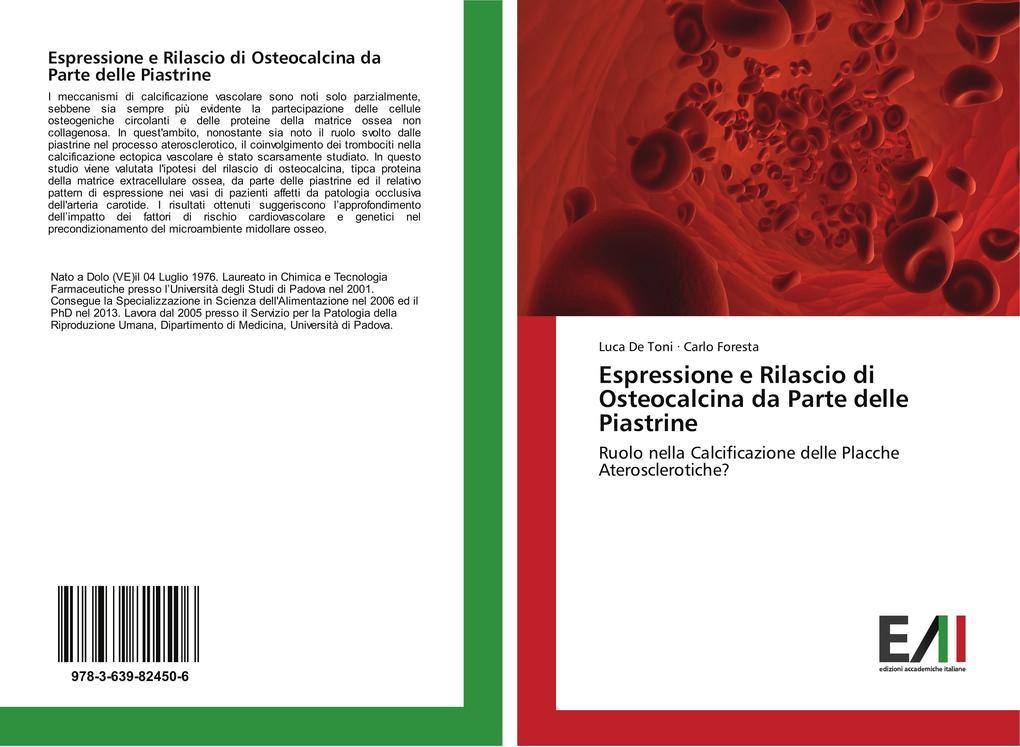 Espressione e Rilascio di Osteocalcina da Parte delle Piastrine als Buch (kartoniert)