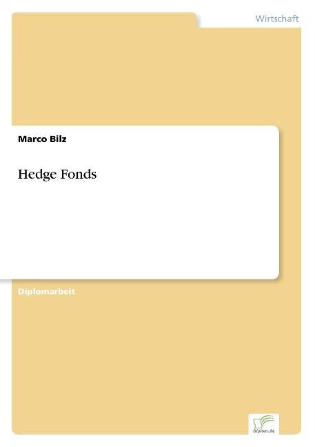 Hedge Fonds als Buch (kartoniert)