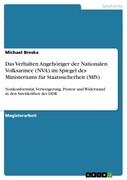 Das Verhalten Angehöriger der Nationalen Volksarmee (NVA) im Spiegel des Ministeriums für Staatssicherheit (MfS)