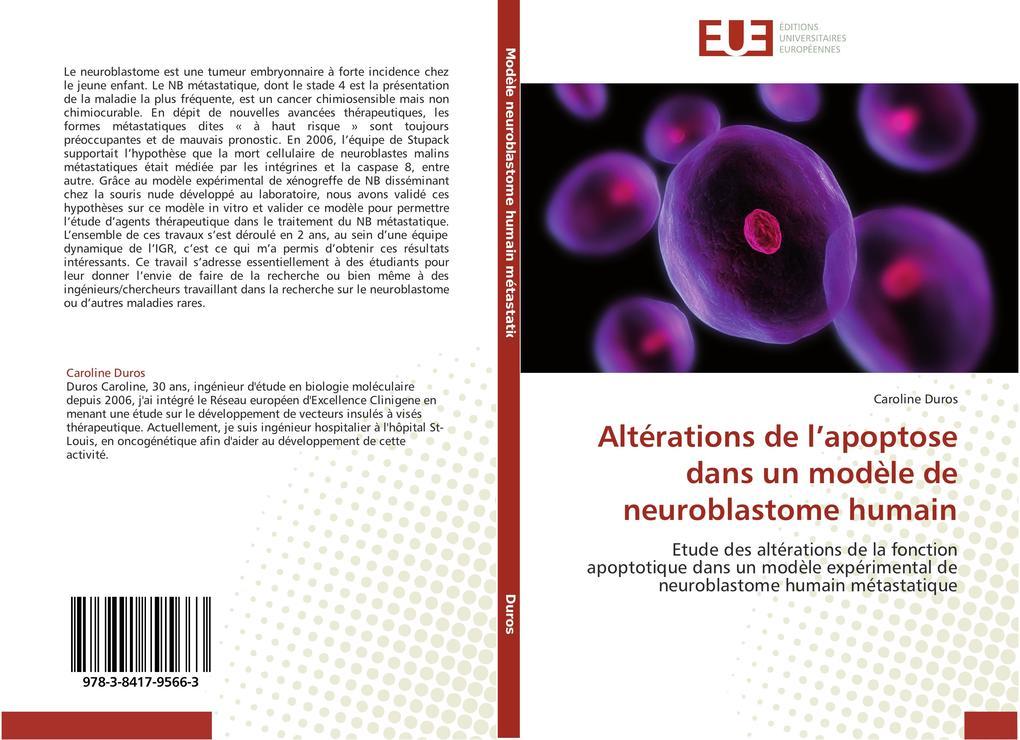 Altérations de l'apoptose dans un modèle de neuroblastome humain als Buch (kartoniert)