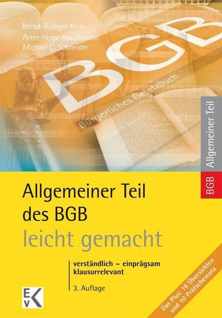 Allgemeiner Teil BGB leicht gemacht als Buch (kartoniert)