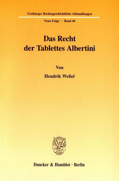 Das Recht der Tablettes Albertini. als Buch (kartoniert)
