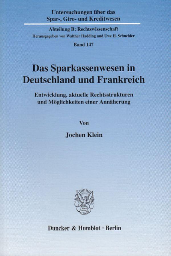 Das Sparkassenwesen in Deutschland und Frankreich. als Buch (kartoniert)