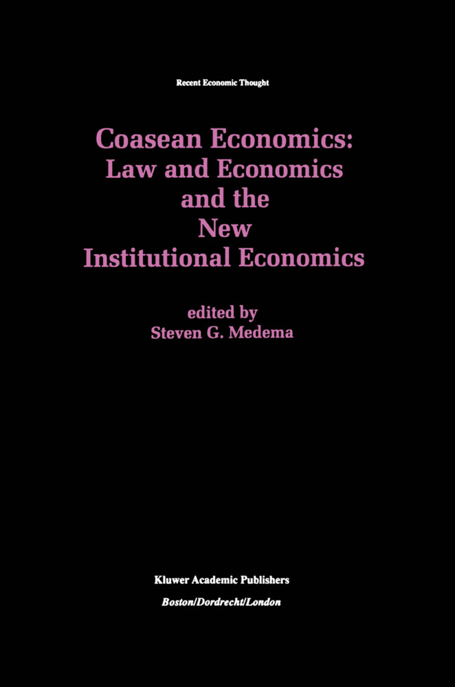 Coasean Economics Law and Economics and the New Institutional Economics als Buch (gebunden)