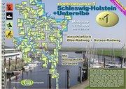 TourenAtlas Wasserwandern 01. Schleswig-Holstein + Unterelbe 1 : 75 000 und 1 : 25 000