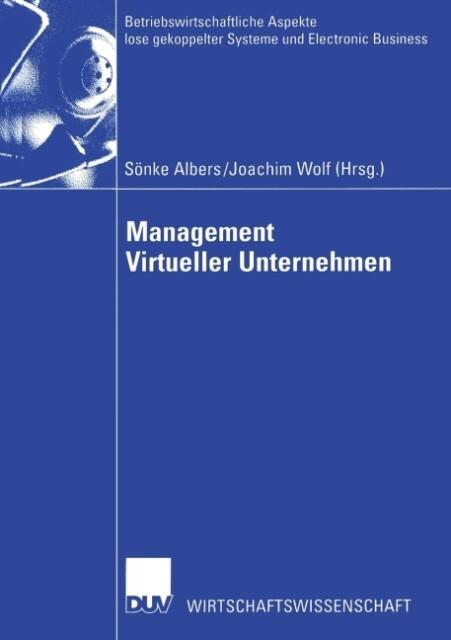 Management Virtueller Unternehmen als Buch (kartoniert)