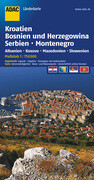 ADAC LänderKarte Kroatien, Bosnien-Herzegowina, Serbien und Montenegro 1 : 750 000