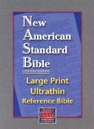 Large Print Ultrathin Reference Bible-NASB [With Velvet Book Holder] als Buch (Ledereinband)