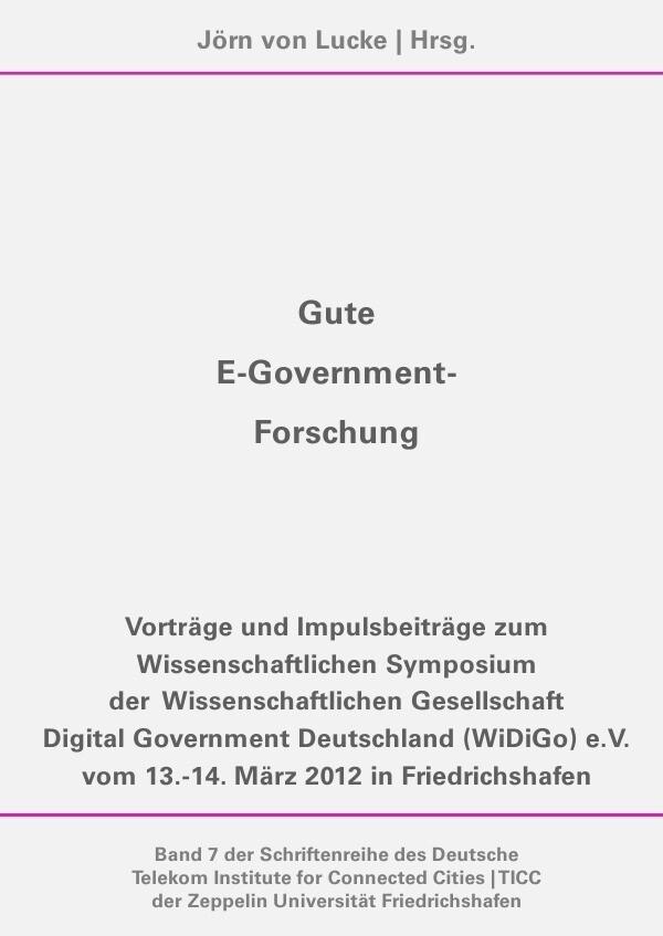 Gute E-Government-Forschung als Buch (kartoniert)