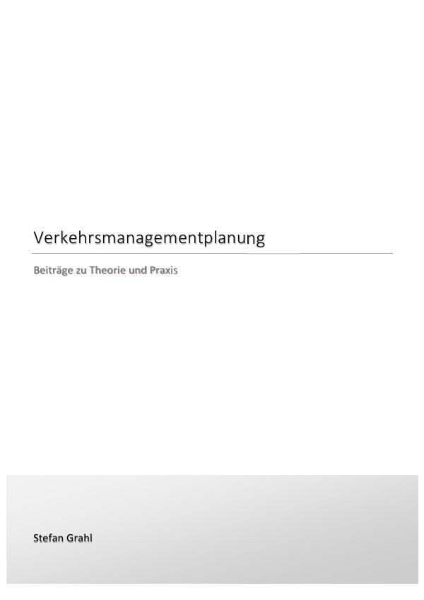 Verkehrsmanagementplanung als Buch (kartoniert)