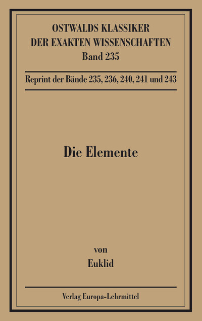 Die Elemente, Bücher I-XIII als Buch (kartoniert)