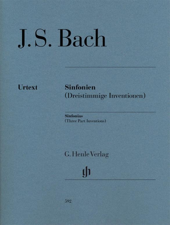 Sinfonien (Dreistimmige Inventionen) für Klavier zu zwei Händen. Revidierte Ausgabe von HN 360 als Buch (kartoniert)