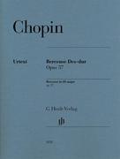 Berceuse Des-dur op. 57 für Klavier zu zwei Händen. Revidierte Ausgabe von HN 320