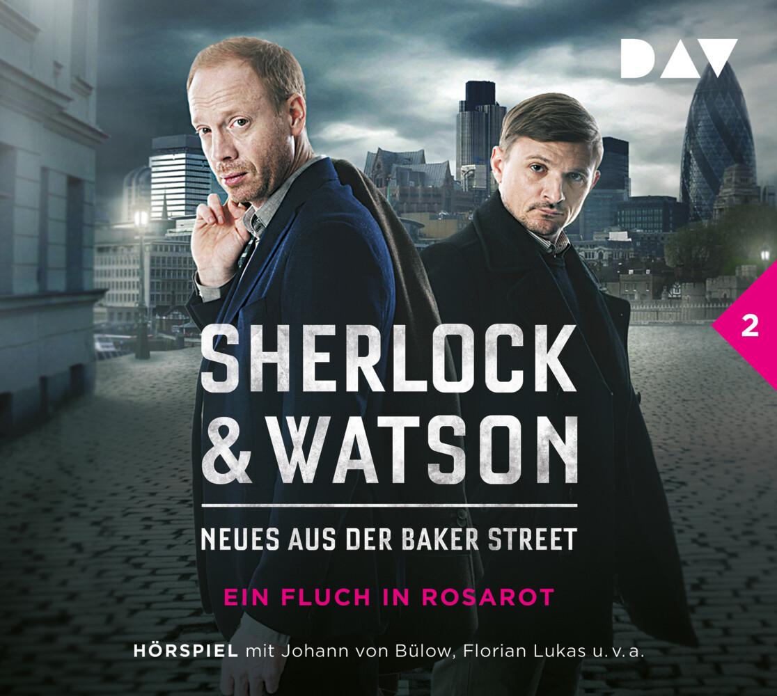Sherlock & Watson - Neues aus der Baker Street 02: Ein Fluch in Rosarot als Hörbuch CD