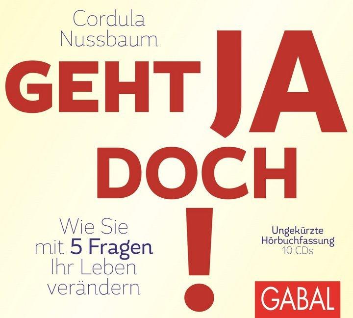 Geht ja doch!, 10 Audio-CDs als Hörbuch CD