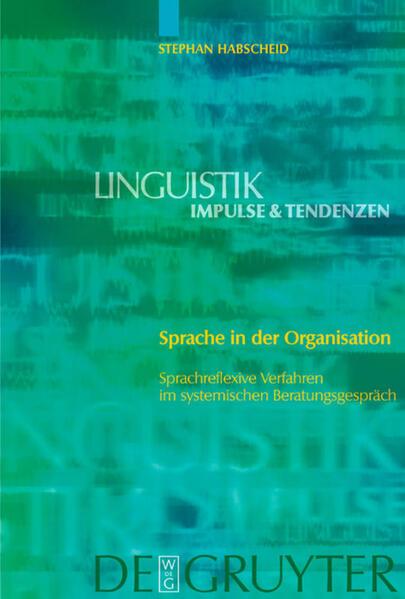 Sprache in der Organisation als Buch (gebunden)