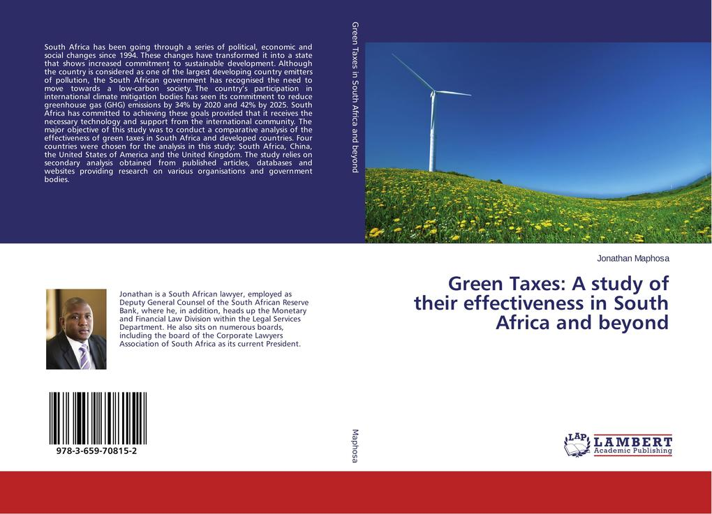 Green Taxes: A study of their effectiveness in South Africa and beyond als Buch (kartoniert)