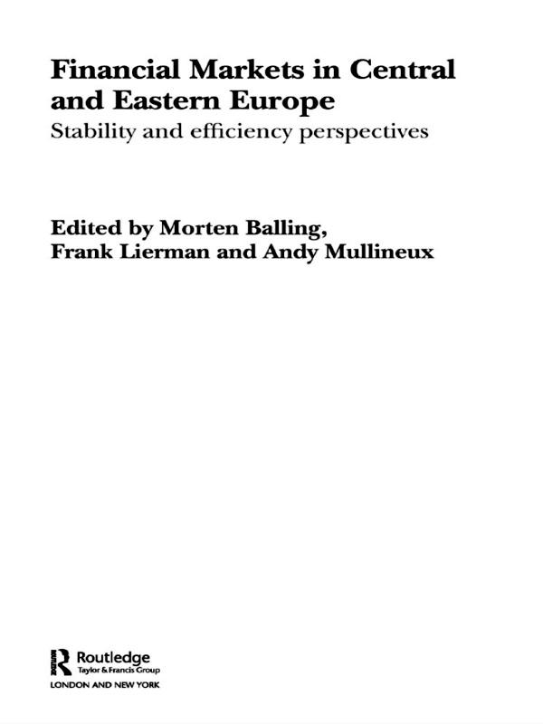 Financial Markets in Central and Eastern Europe als eBook pdf