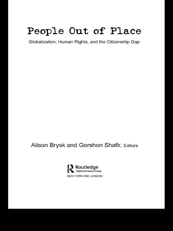 People Out of Place als eBook pdf