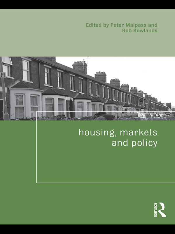 Housing, Markets and Policy als eBook pdf