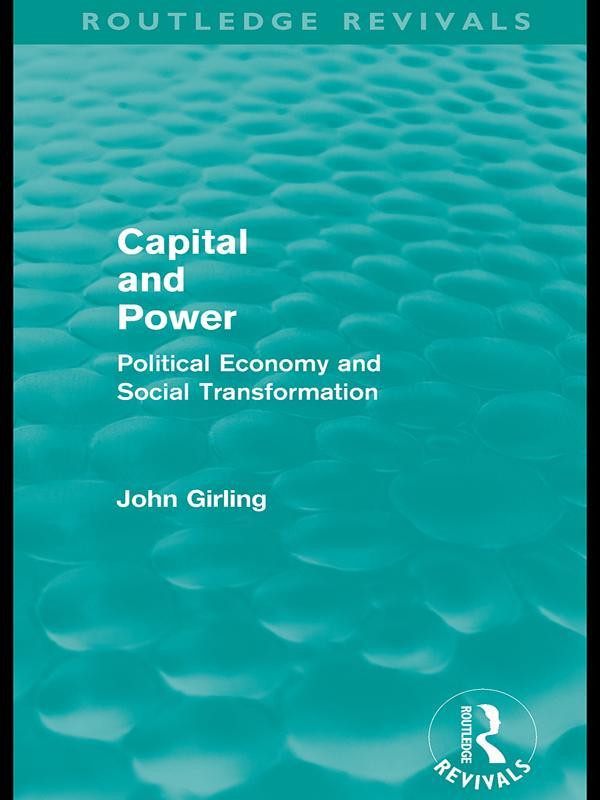 Capital and Power (Routledge Revivals) als eBook epub